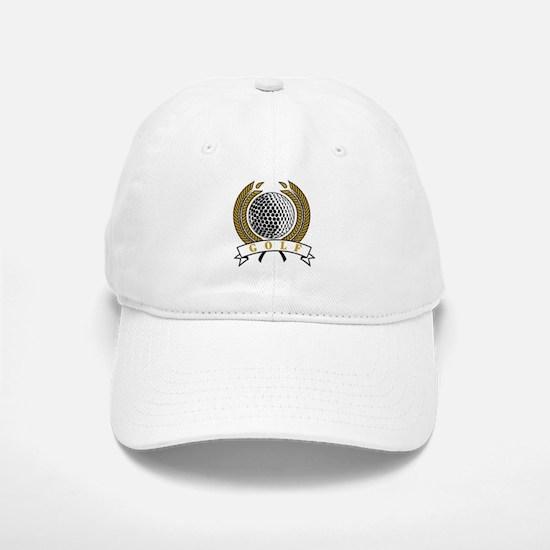 Classic Golf Emblem Baseball Baseball Cap