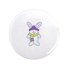 """WINTER BUNNY 3.5"""" Button"""