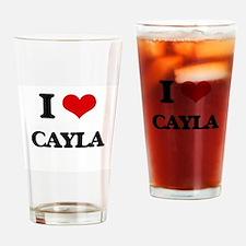 I Love Cayla Drinking Glass