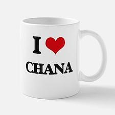 I Love Chana Mugs