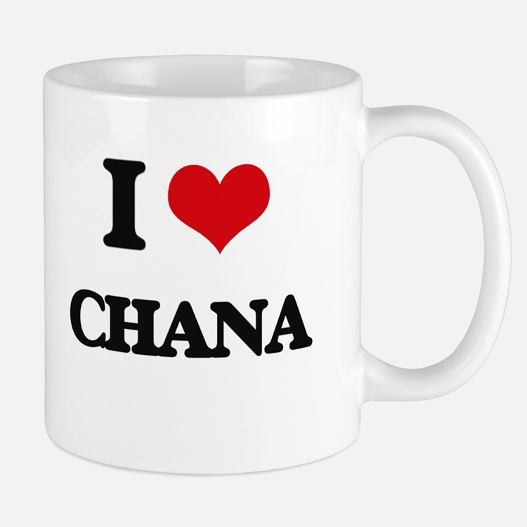 I Love Chana Mugs