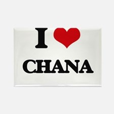 I Love Chana Magnets