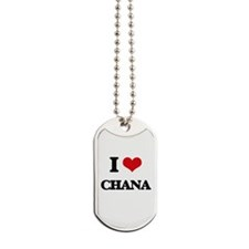 I Love Chana Dog Tags