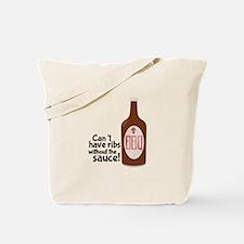 Ribs Sauce & BBQ Tote Bag