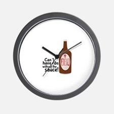 Ribs Sauce & BBQ Wall Clock