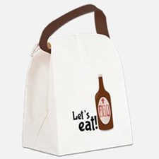 Lets Eat BBQ! Canvas Lunch Bag