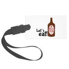Lets Eat BBQ! Luggage Tag