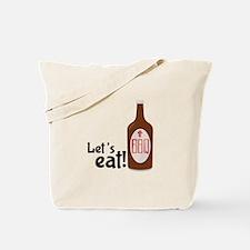 Lets Eat BBQ! Tote Bag