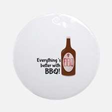 Better With BBQ! Ornament (Round)