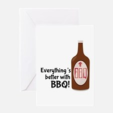Better With BBQ! Greeting Cards