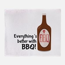 Better With BBQ! Throw Blanket