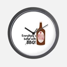 Better With BBQ! Wall Clock
