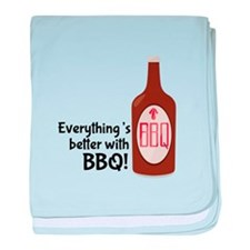 Better With BBQ! baby blanket