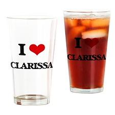I Love Clarissa Drinking Glass
