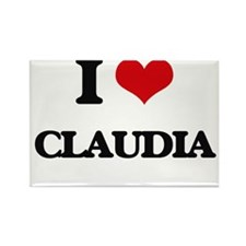 I Love Claudia Magnets