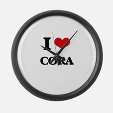 I Love Cora Large Wall Clock