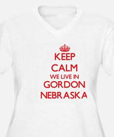 Keep calm we live in Gordon Nebr Plus Size T-Shirt