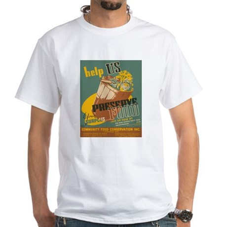 PRESERVE FOOD white t-shirt
