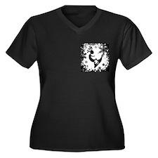 KOKO SNO BO Women's Plus Size V-Neck Dark T-Shirt