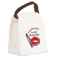 MAKEUP IS MY BUSINESS Canvas Lunch Bag