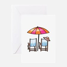 BEACH CHAIRS Greeting Cards