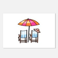 BEACH CHAIRS Postcards (Package of 8)