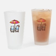 BEACH CHAIRS Drinking Glass