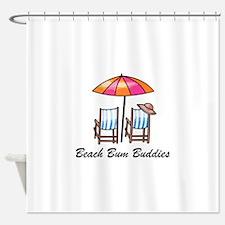 BEACH BUM BUDDIES Shower Curtain