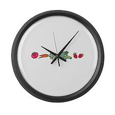 VEGETABLE BORDER Large Wall Clock