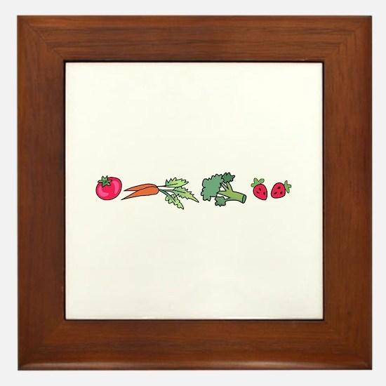 VEGETABLE BORDER Framed Tile