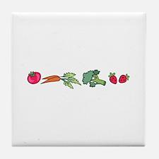 VEGETABLE BORDER Tile Coaster