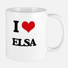 I Love Elsa Mugs