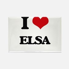 I Love Elsa Magnets