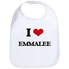 I Love Emmalee Bib