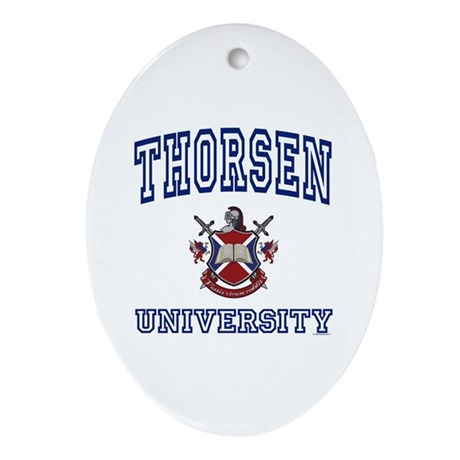 THORSEN University Oval Ornament