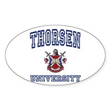 THORSEN University Oval Decal