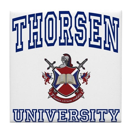 THORSEN University Tile Coaster
