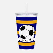 Soccer Ball Banner blu Acrylic Double-wall Tumbler