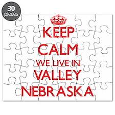 Keep calm we live in Valley Nebraska Puzzle