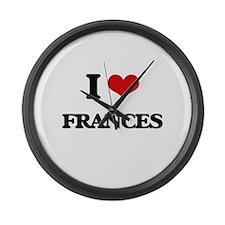 I Love Frances Large Wall Clock