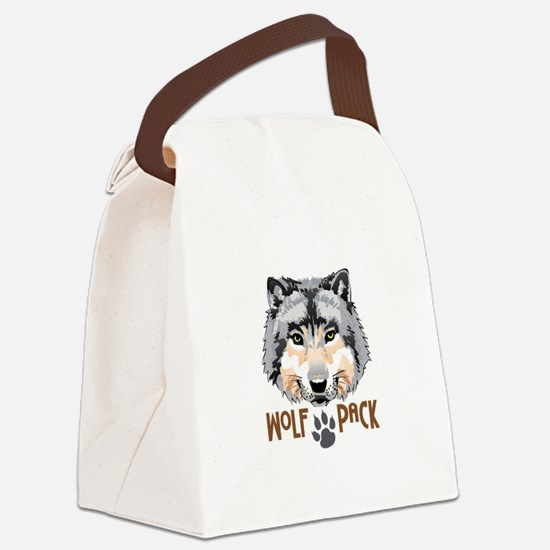 WOLF PACK Canvas Lunch Bag