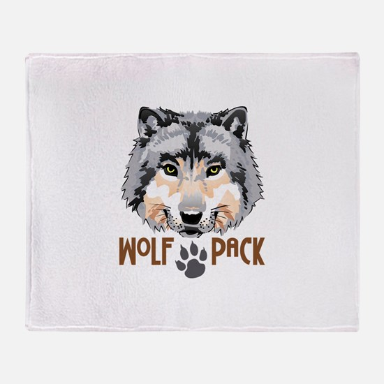 WOLF PACK Throw Blanket