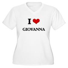I Love Giovanna Plus Size T-Shirt