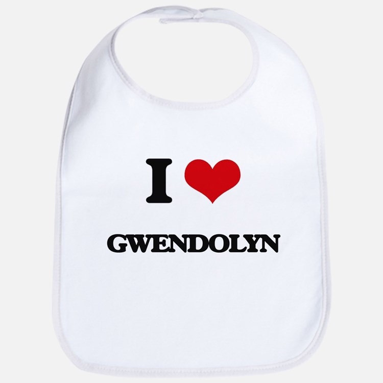 I Love Gwendolyn Bib
