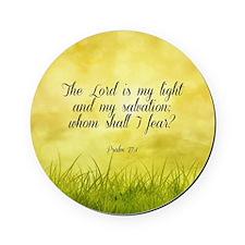 Scripture - Psalm 27:1 Cork Coaster