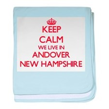 Keep calm we live in Andover New Hamp baby blanket