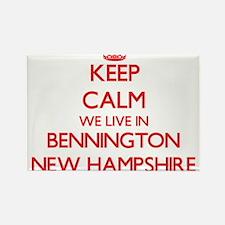 Keep calm we live in Bennington New Hampsh Magnets