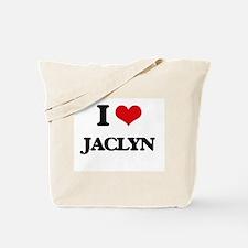 I Love Jaclyn Tote Bag
