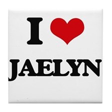 I Love Jaelyn Tile Coaster