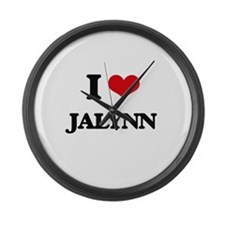 I Love Jalynn Large Wall Clock